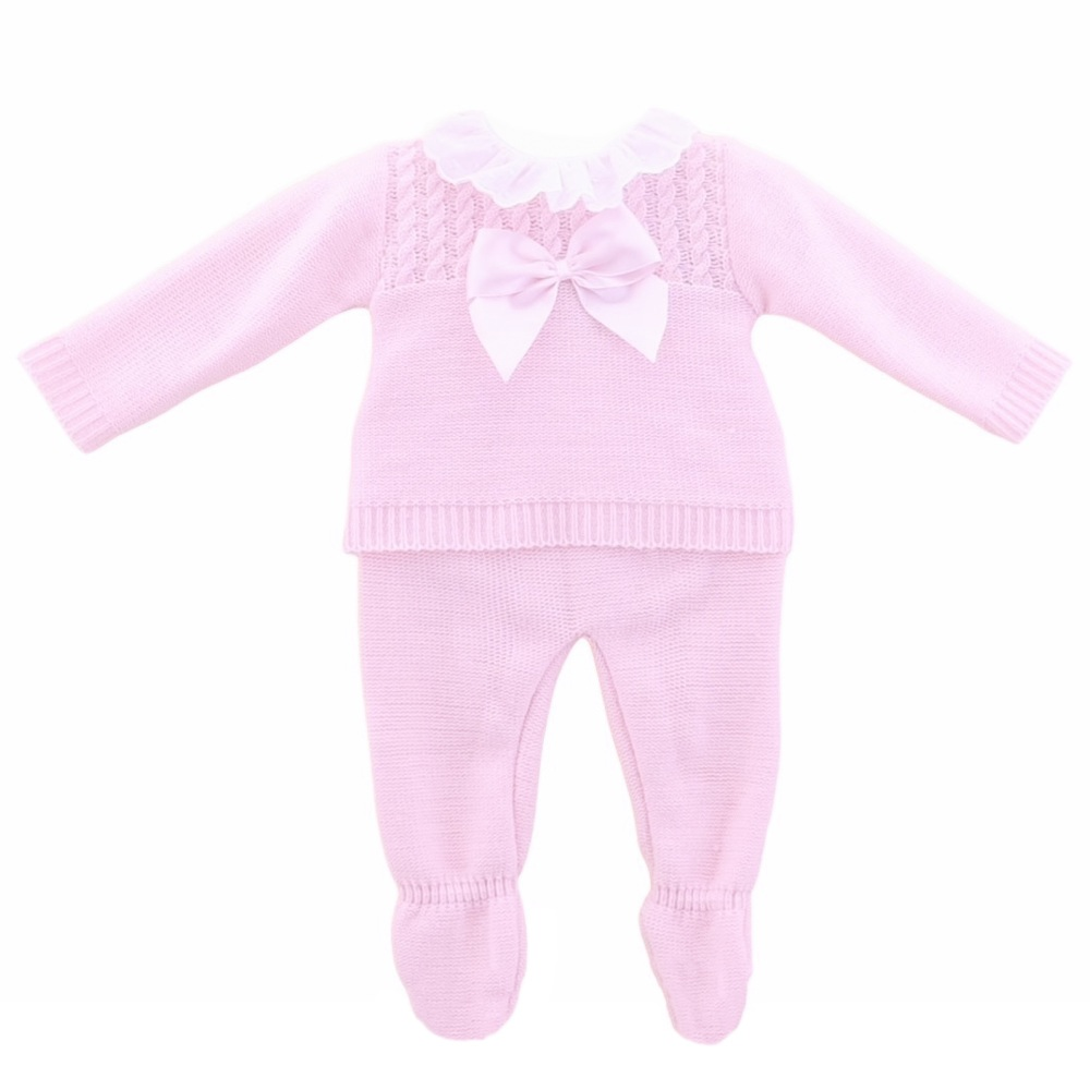 Emmie Knitted Jumper & Pants - Pink