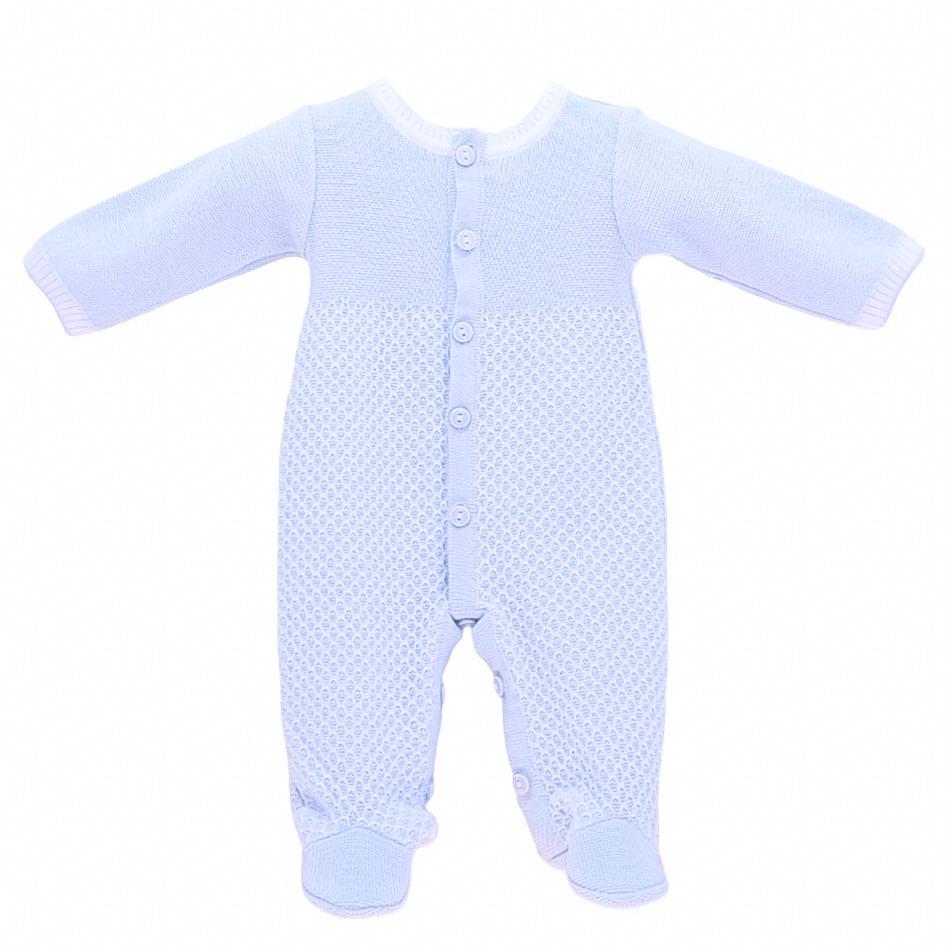 Grayson Knitted Onesie - Blue
