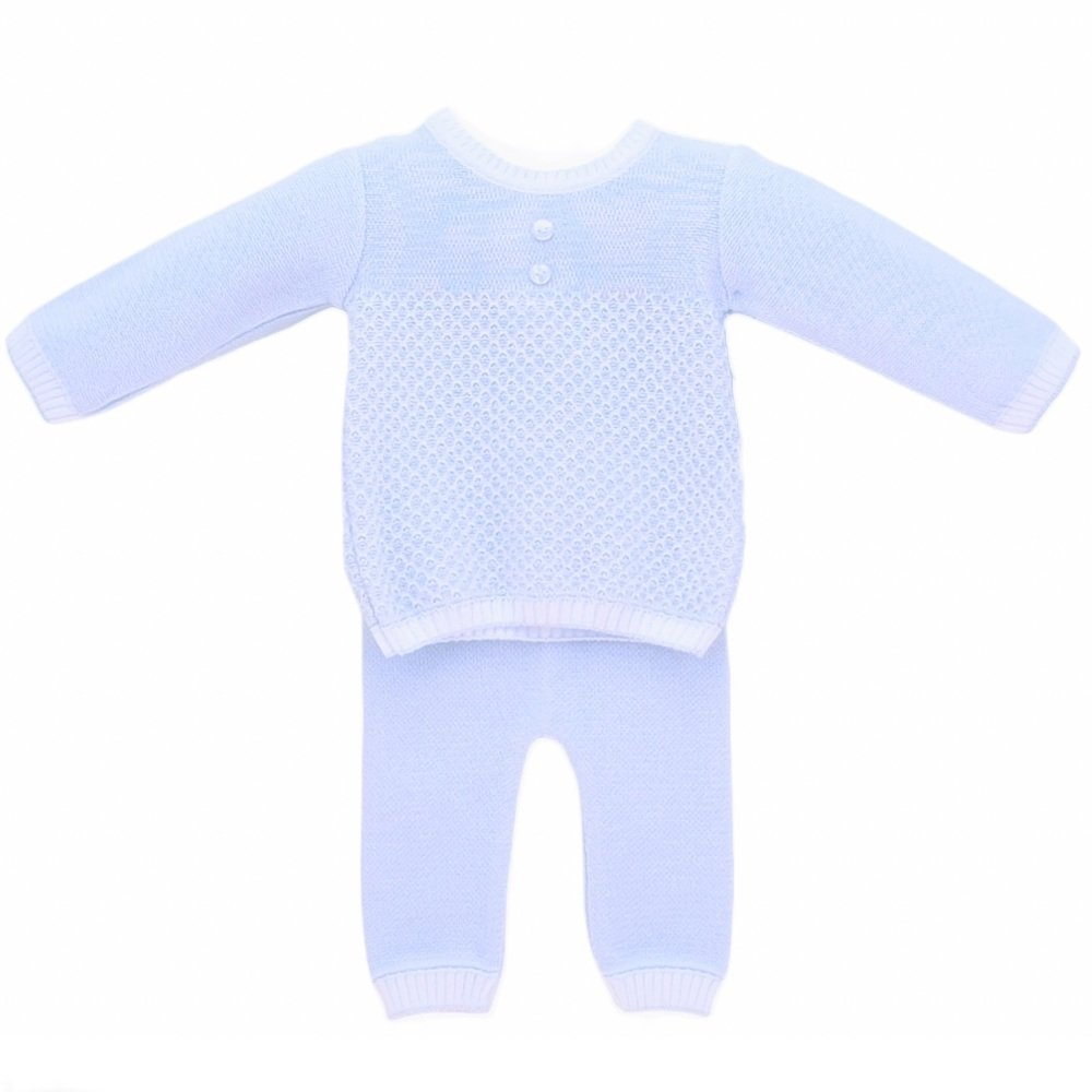 Grayson Knitted Jumper & Pants - Blue