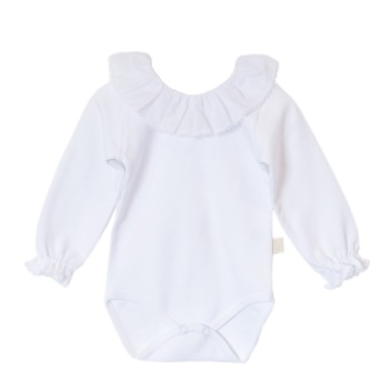 Baby Gi Frill Neck Body - White