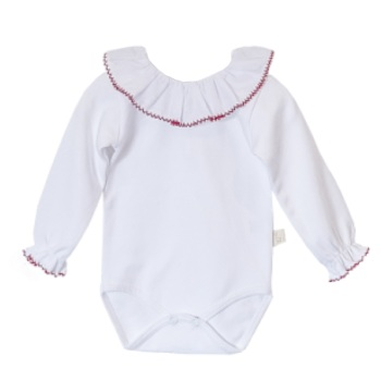Baby Gi Frill Neck Body - Red Trim