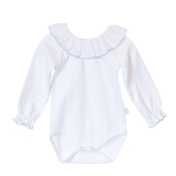 Baby Gi Frill Neck Body - Grey Trim