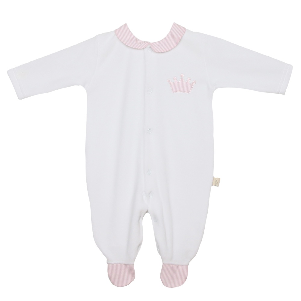 Baby Gi Little Crown All-In-One - Pink