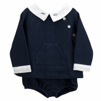 Babidu Jersey Cotton Jumper & Shorts - Navy