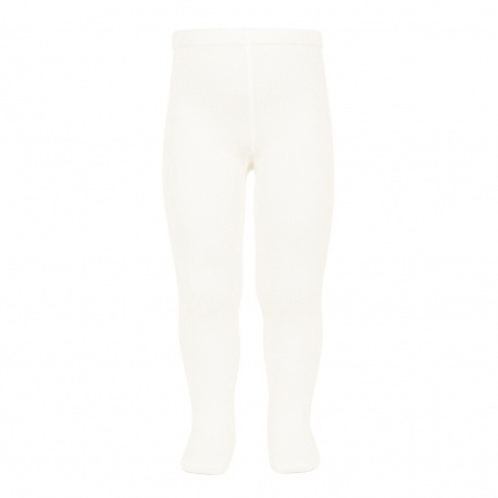 Cotton Rich Plain Tights - Ivory