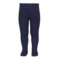 Cotton Rich Plain Tights - Navy