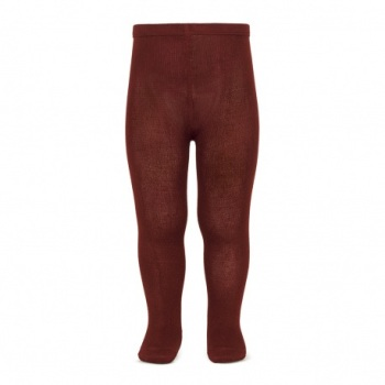 Cotton Rich Plain Tights - Burgundy