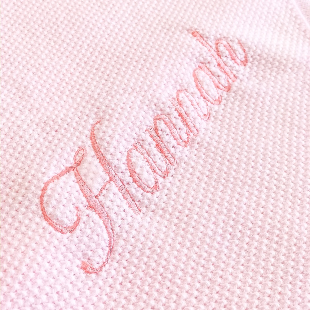 Fine Knitted Shawl - Pink