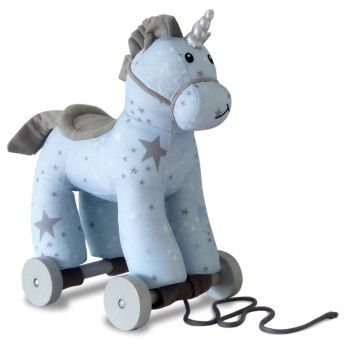 Little Bird Told Me Moonbeam Unicorn Pull Along Toy