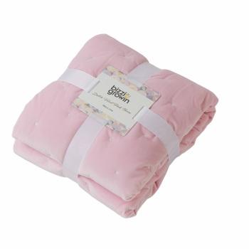 Bizzi Growin Dutch Velvet Baby Quilt - Pink