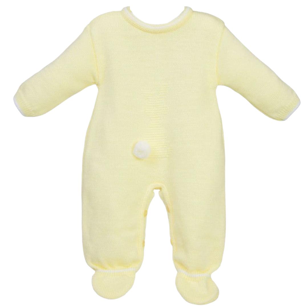 Little Bunny Knitted Onesie - Lemon