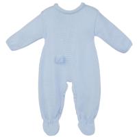 Little Bunny Knitted Onesie - Blue