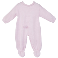Little Bunny Knitted Onesie - Pink