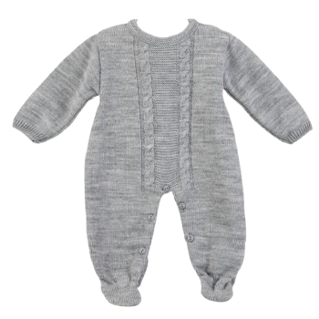 Arthur Knitted Onesie - Grey