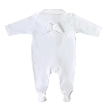 Baby Gi Angel Wings Babygrow - White