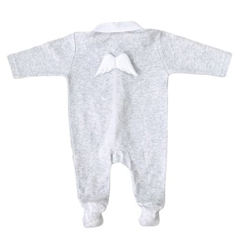 Baby Gi Angel Wings Babygrow - Grey