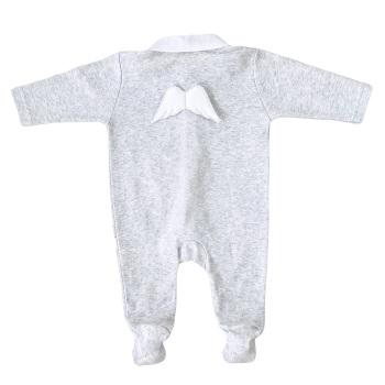 Baby Gi Angel Wings Babygrow - Grey