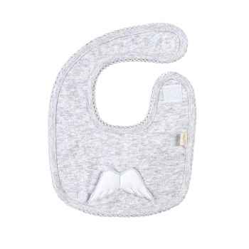 Baby Gi Angel Wings Bib - Grey
