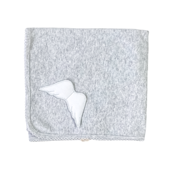Baby Gi Angel Wings Cotton Blanket - Grey