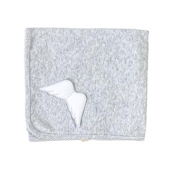 Baby Gi Angel Wings Cotton Blanket - Grey