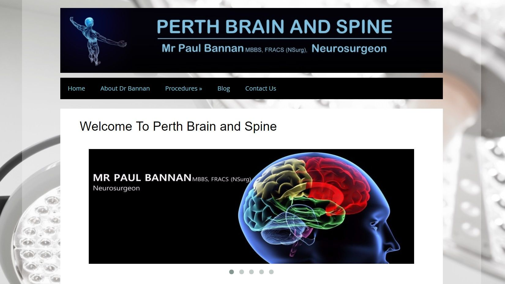 Citrus MArketing Website Design and SEO For Perth Neurosurgeon