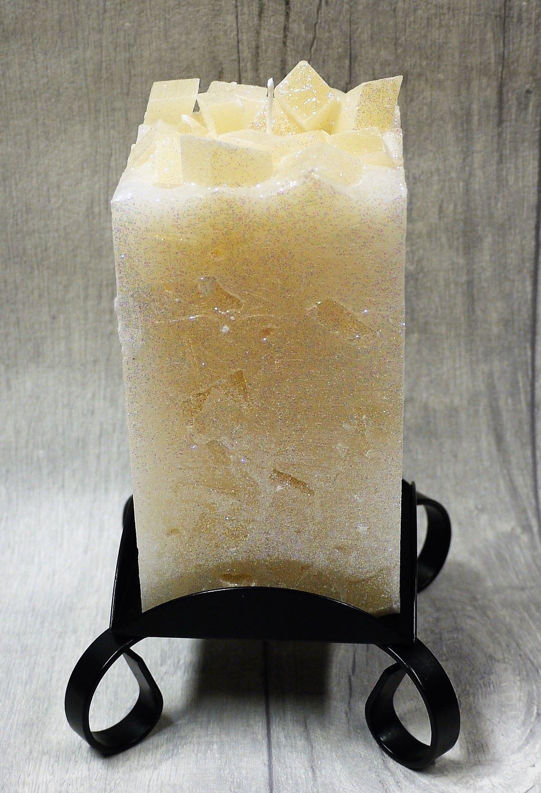 Medium Cream colour topped square pillar candles