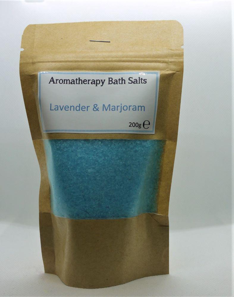 Aromatherapy bath salts pouch