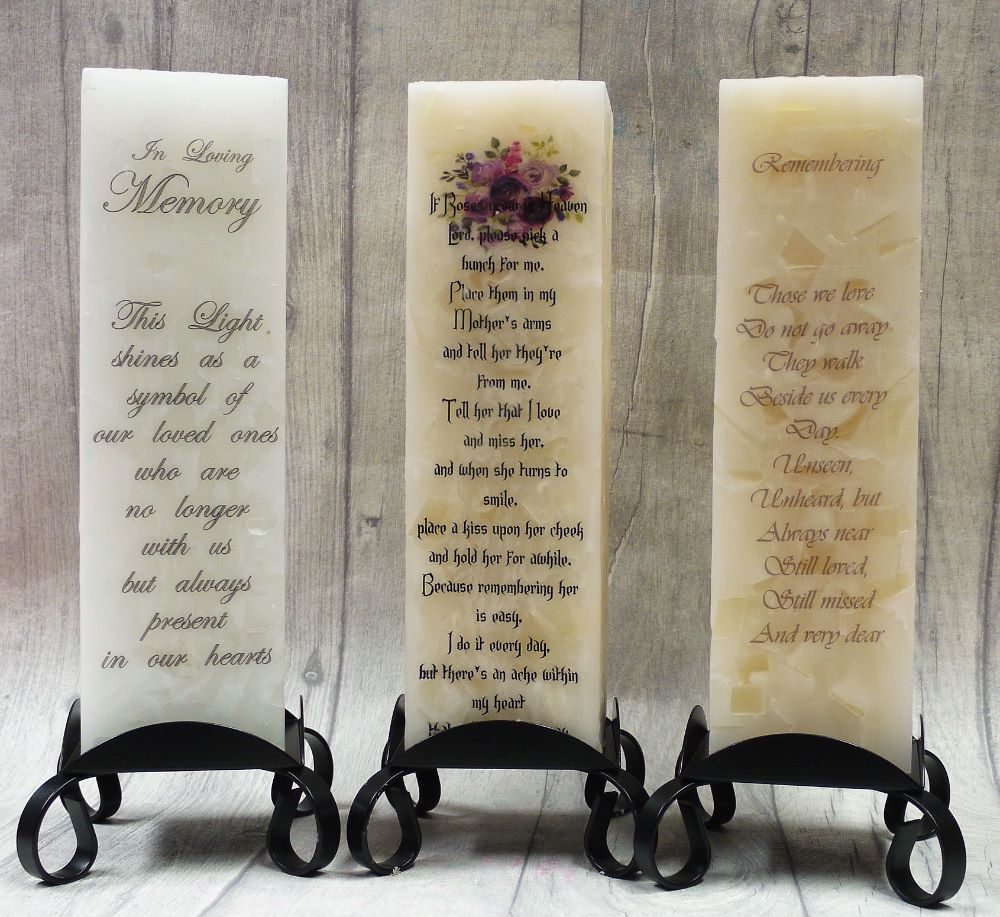 Luxury Memorial Pillar Candles
