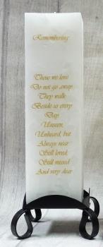 "White ""Remembering"" Luxury Pillar Candle"