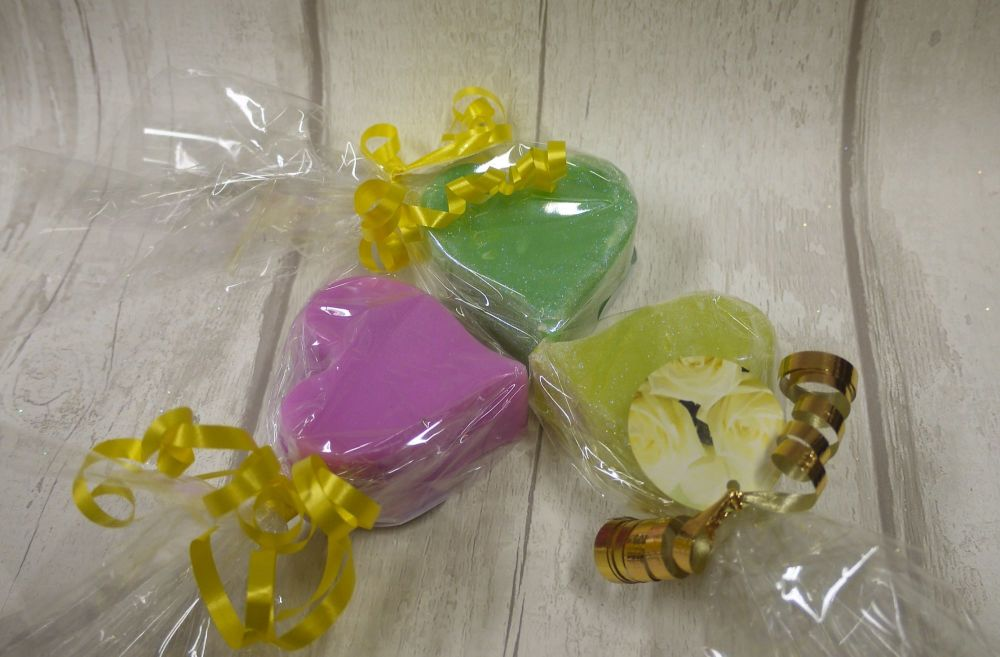 Heart shapped soaps