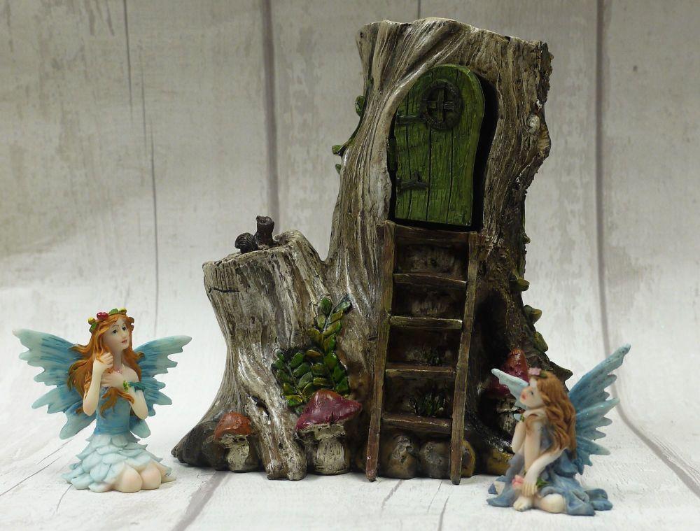 Sacred stump Fairy home
