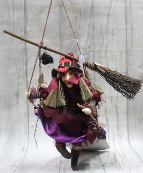 Olivia on a swing Burgandy 24cm