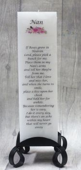 """Nan"" Luxuary Memorial Pillar Candle"