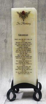 """Grandad"" Luxury Memorial Pillar Candle"