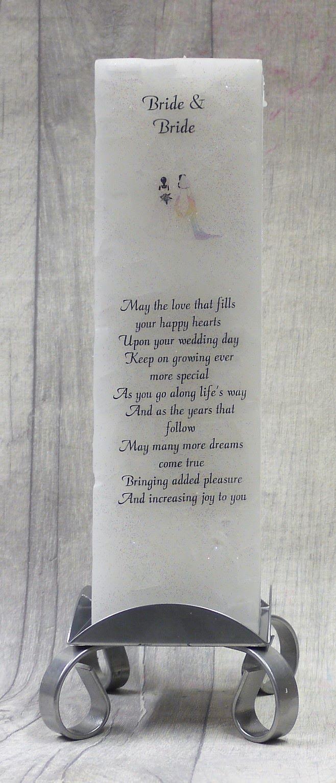 Bride & Bride luxury  Pillar Candle