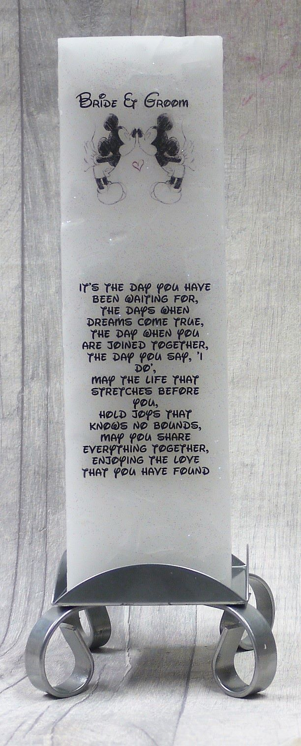 Bride & Groom Luxuary Pillar Candle