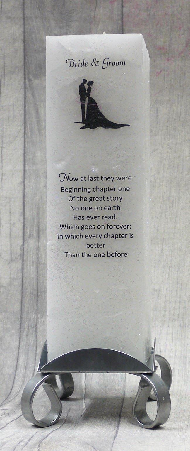 Bride & Groom Luxury Pillar Candle