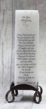 On Your Christening Luxury Pillar Candle