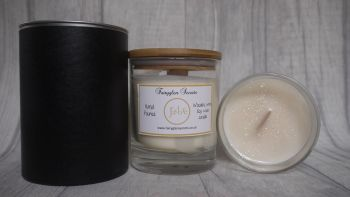"""""""Jadore"""" Inspired Fragrance Soy Wax Wooden Wick Candle Jar"""