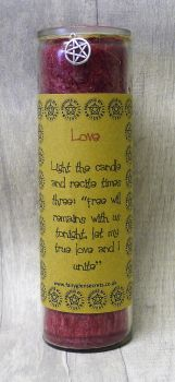 "Red ""Love"" Spell Candle"