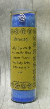 "Blue ""Harmony"" Spell Candle"