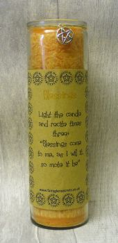 "Yellow ""Blessings"" Spell Candle"