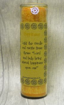 "Yellow ""Happiness"" Spell Candle"