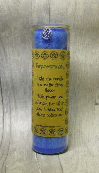 "Blue ""Empowerment"" Spell Candle"
