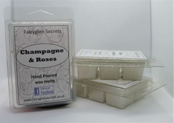 """Champagne & Roses"" Fragranced  wax melts"