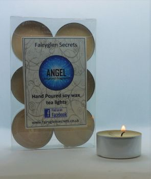 """Angel"" Inspired Fragrance Soy Wax Tea Lights"