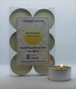 """Be Delicious"" Inspired Fragrance Soy Wax Tea Lights"