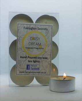 """Daisy"" Inspired Fragrance Soy Wax Tea Lights"