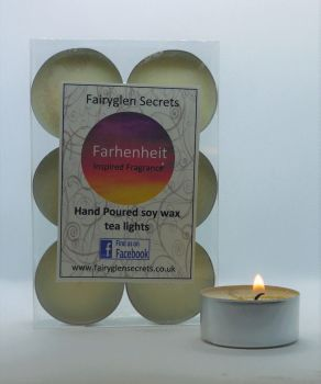 """Farhenheit"" Inspired Fragrance Soy Wax Tea Lights"