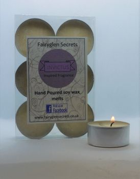 """Invictus"" Inspired Fragrance Soy Wax Tea Lights"